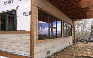 wood siding installation