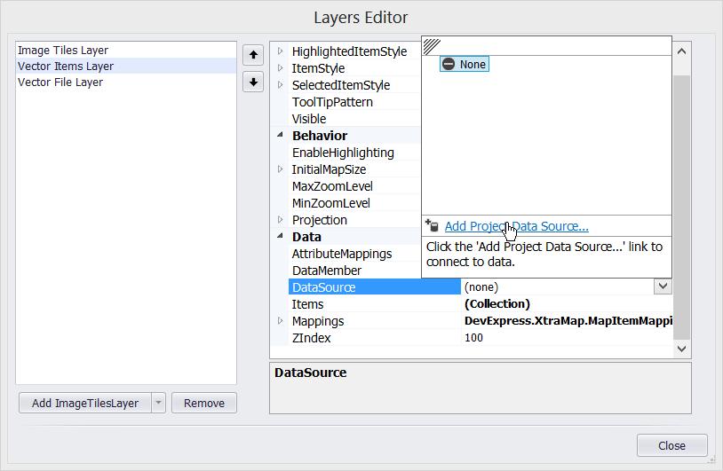 WinForms Map Control | DevExpress Tutorials