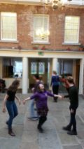 Dance rehearsal for The Sacred and the Profane
