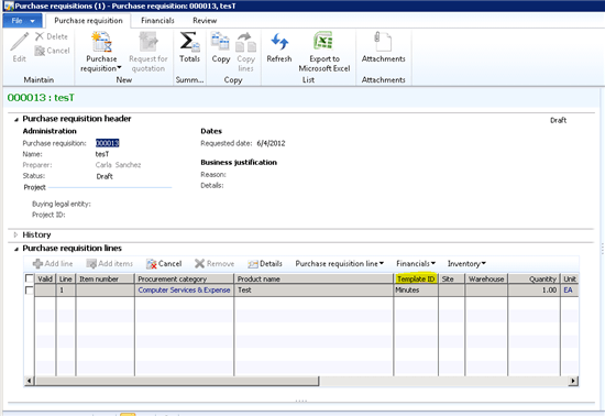 Purchase Requisition Form Template. excel purchase request form ...