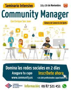 Seminario Intensivo Community Manager Ecuador Quito con Enrique San Juan