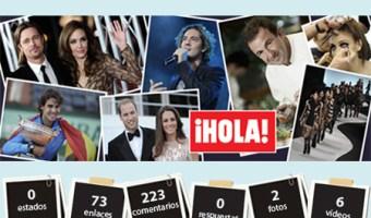 Infografia revista Hola en Facebook Community Internet Enrique San Juan Cursos y servicios de Redes Sociales Social Media