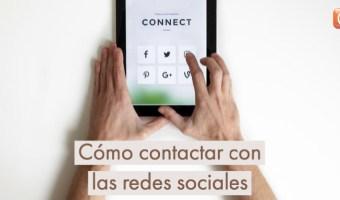 Cómo contactar con las redes sociales