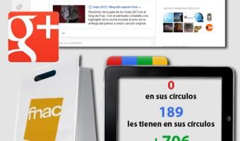 infografia Fnac Google+ redes sociales social media community internet