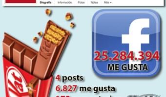 infografia kitkat nestle Facebook community internet the social media company