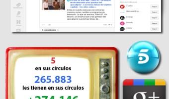 infografia telecinco Google+ redes sociales social media community internet