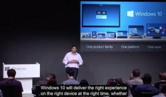 microsoft presenta windows 10