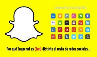 ¿Por qué Snapchat es (tan) diferente al resto de redes sociales?