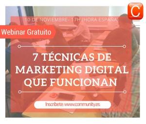 webinar 7 tacticas marketing digital community internet