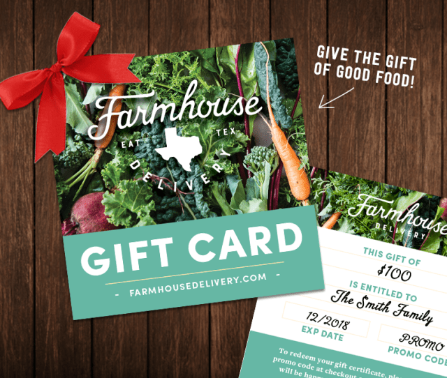 Gift Cards And Gift Bundles From Farmhouse Are Great For The Health Champion Home Cook New Parents Or Anyone In Your Life Who Loves Good Food And