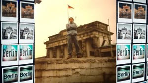 Me standing on the Berlin Wall, 1989