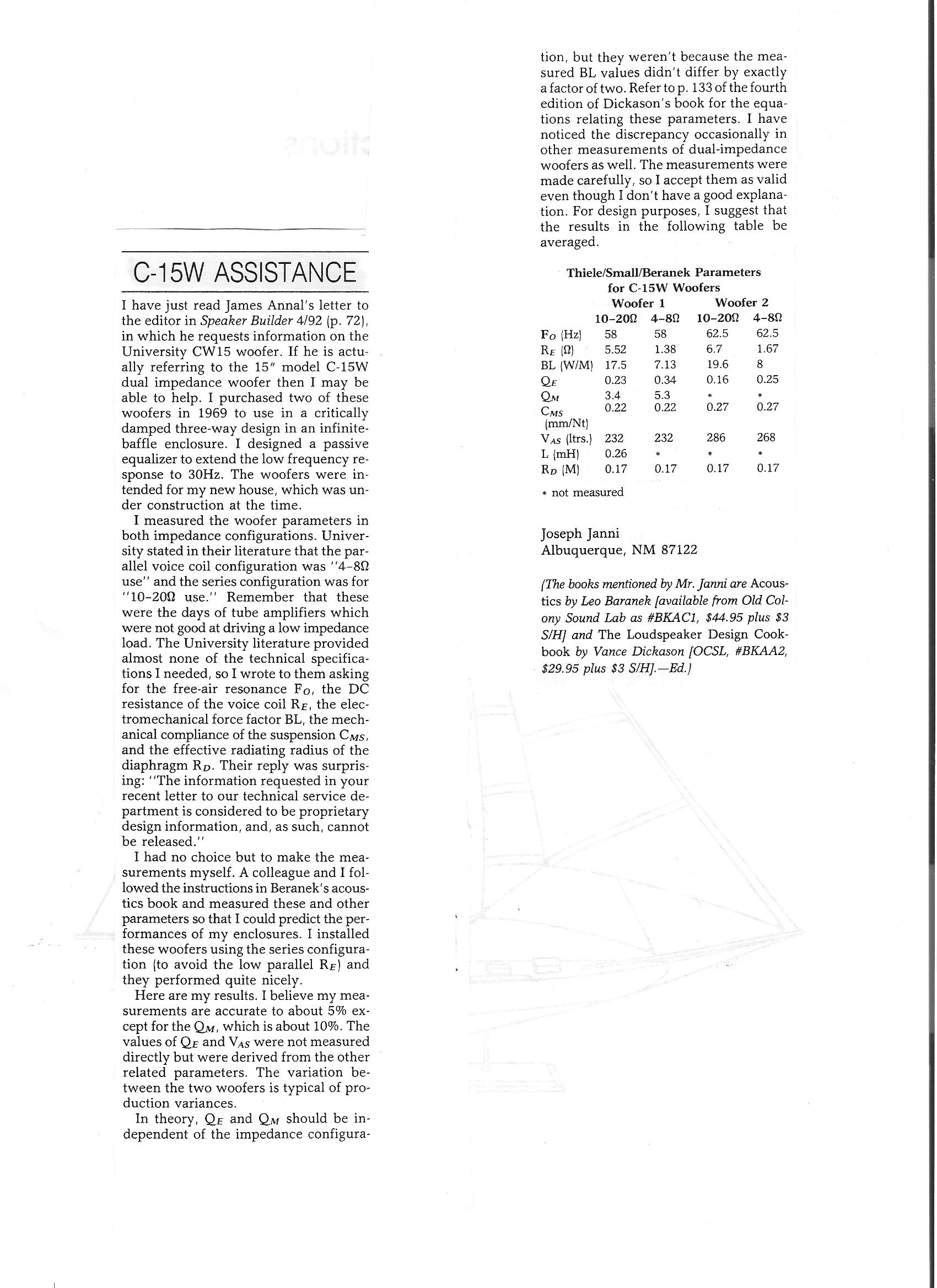 University Classic Part 2 Driver Specs Amp Mods