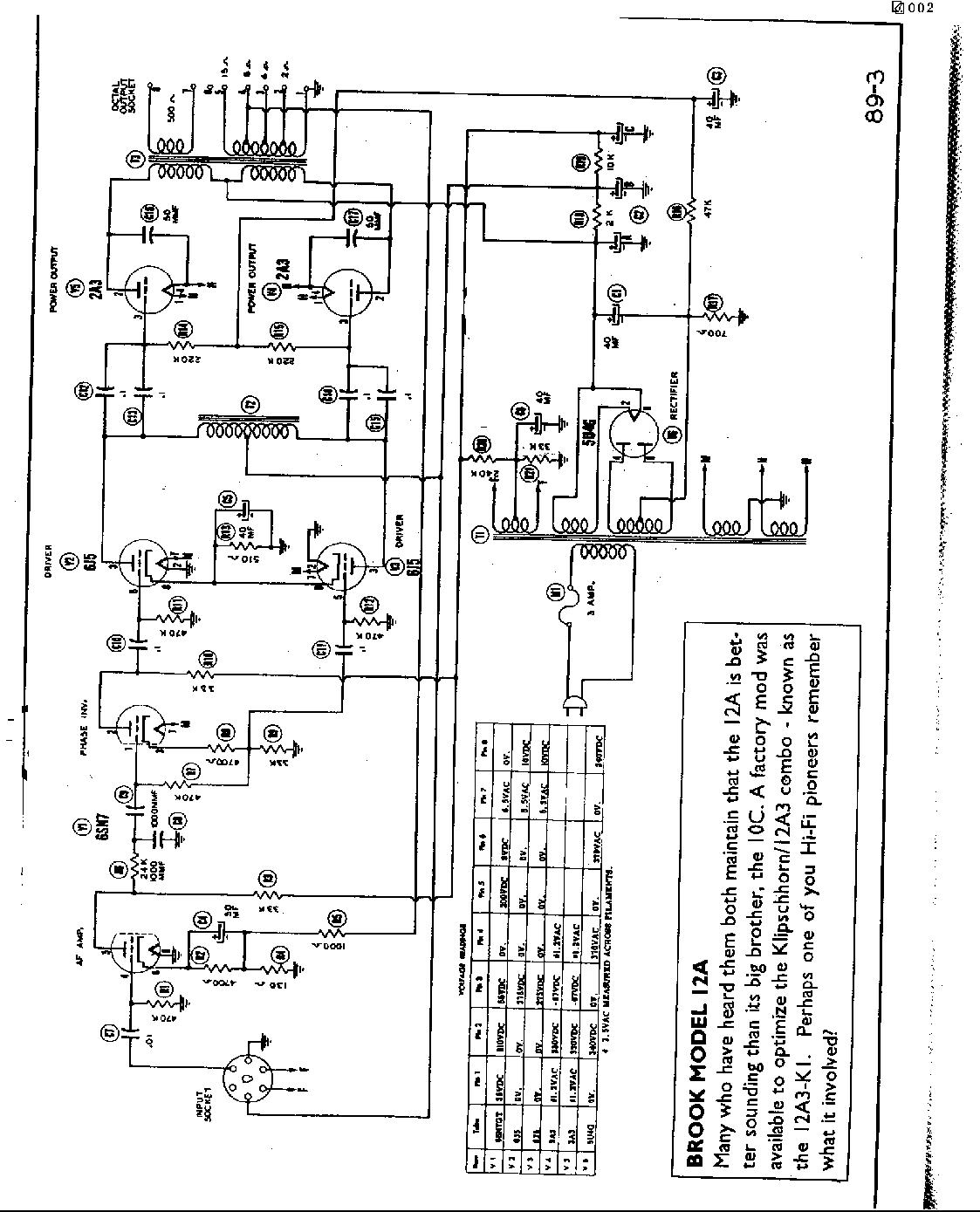 Brook 12a Se Amp Schematic