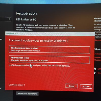 windows reinitialisation pc medion