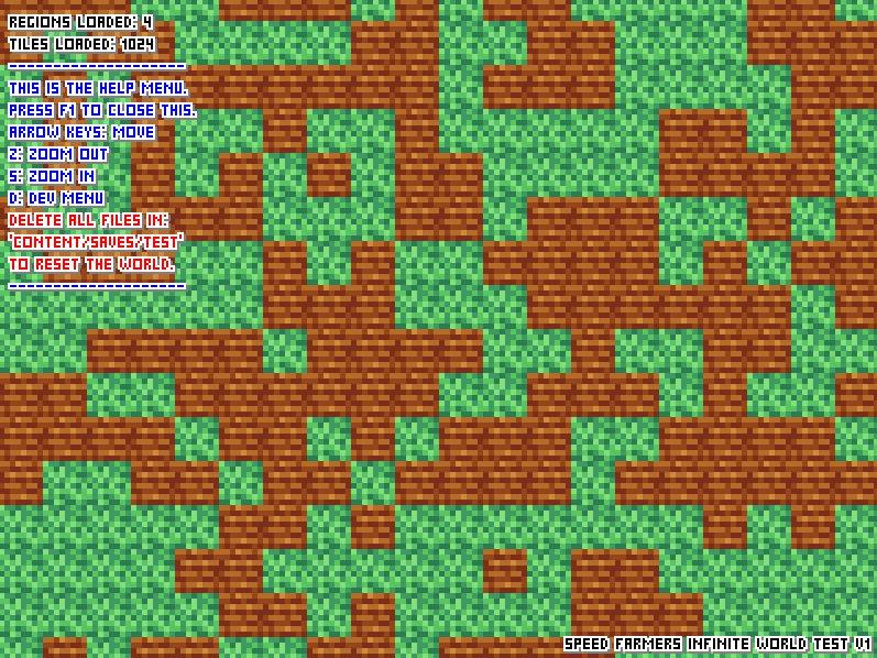 infinite tile generation showcase
