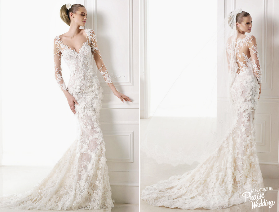Pronovias 2015 Capricornio Gown -Romantic Mermaid Wedding