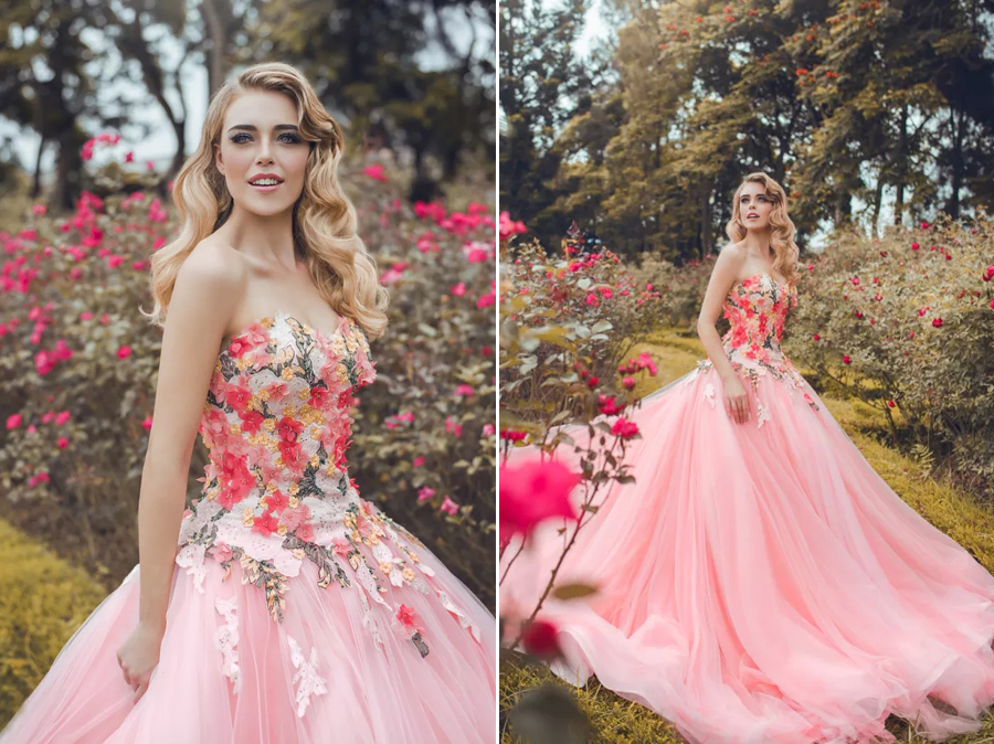 Refreshing Sweet And Feminine This Garden Inspired Gown