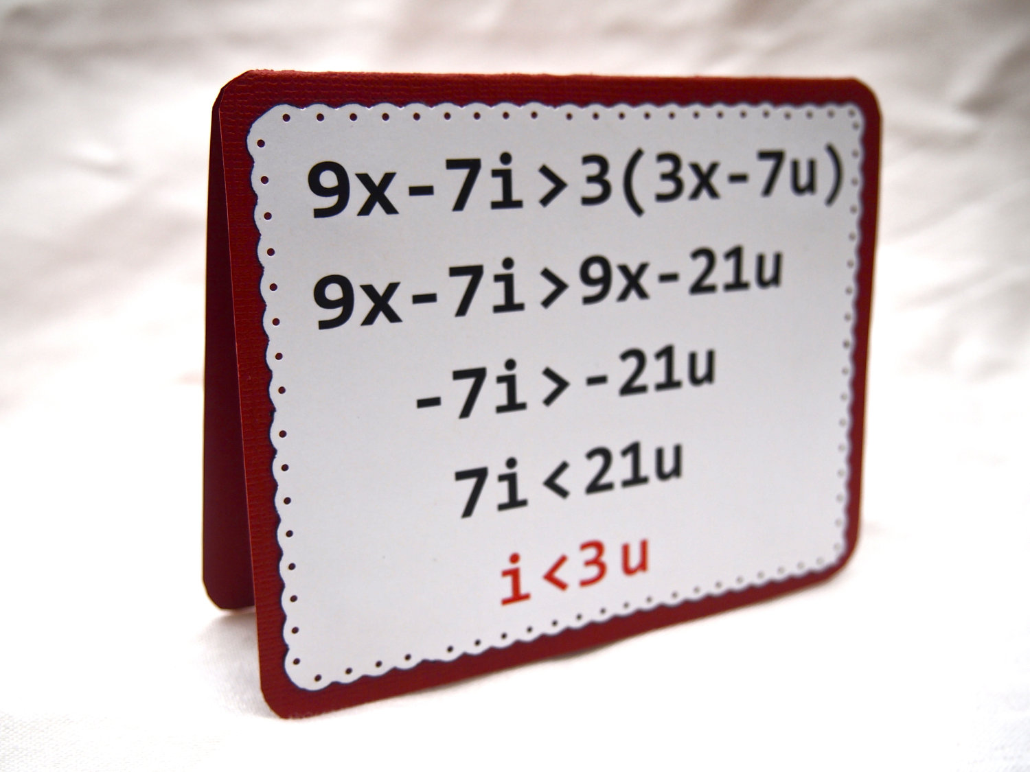 Equation For I Love You
