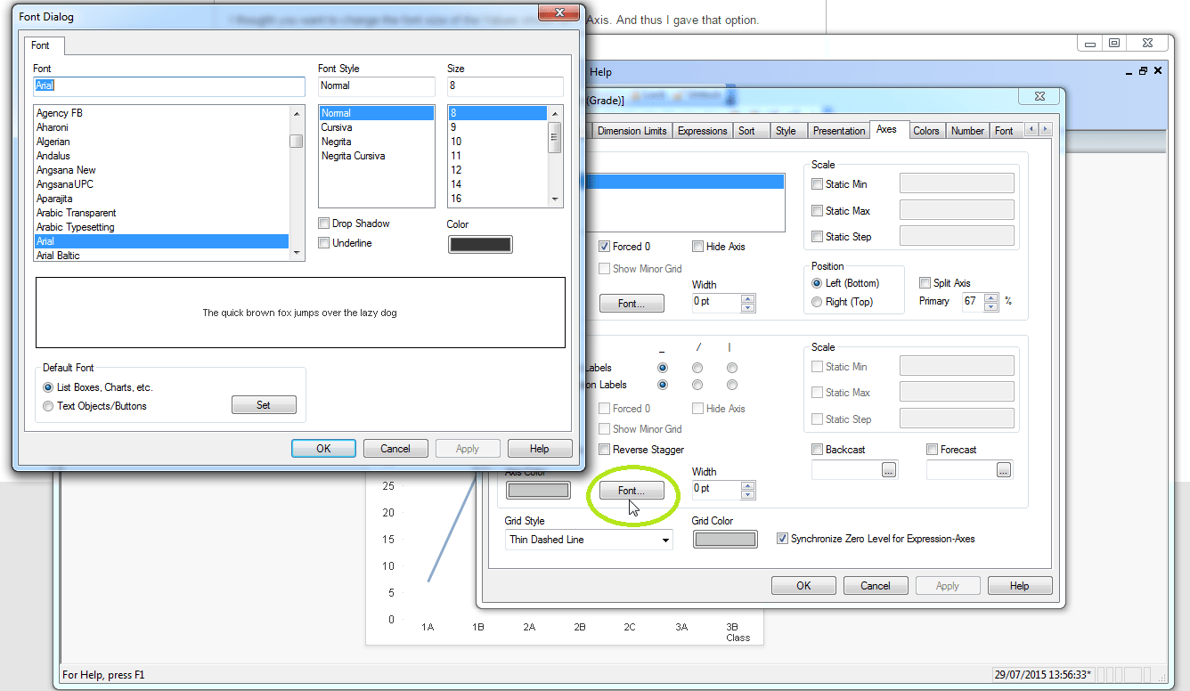 How Do I Change The Font On The Y Axis Labels Of A