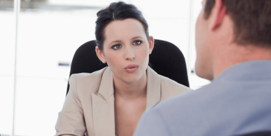 woman consulting a financial adviser