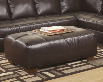Oversize Ottoman - Brown Blended Leather