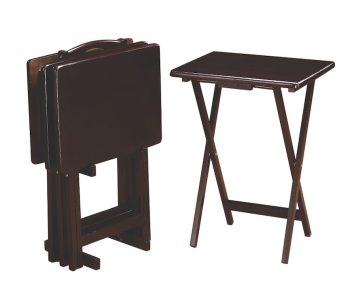 Set of 4 Tray Tables - Cappuccino