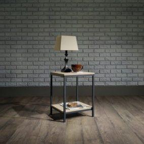 Contempory End Table - Oak