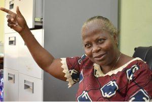 The Lead Scientist, Professor Olufunmilayo Ayoka Adebambo pointing the way to FUNAAB ALPHA