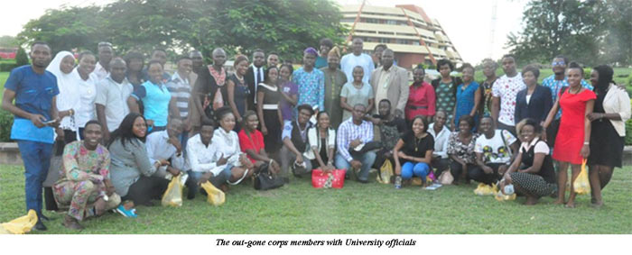 The out-gone corp members with University official