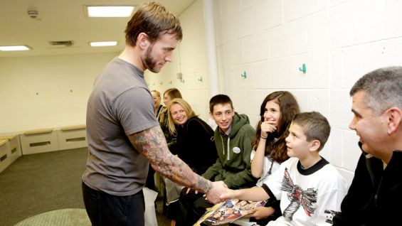 CM Punk Grants Wishes In Nottingham And Minehead England Photos WWE Community