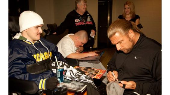 Circle Of Champions John Cena The Great Khali And Triple H Grant Wishes Spring 2010 WWE