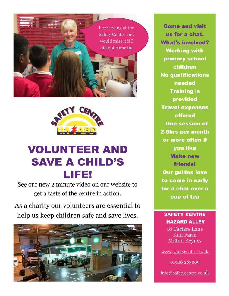 VOLUNTEER AND SAVE A CHILD poster 2017