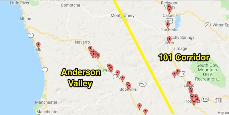 Mendocino: Anderson Valley and the 101 Corridor