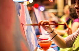 Mixing Cocktails and Canvases