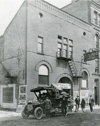 The Star Theatre, behind the Walper Hotel on Queen Street South, Berlin Ontario, 1918