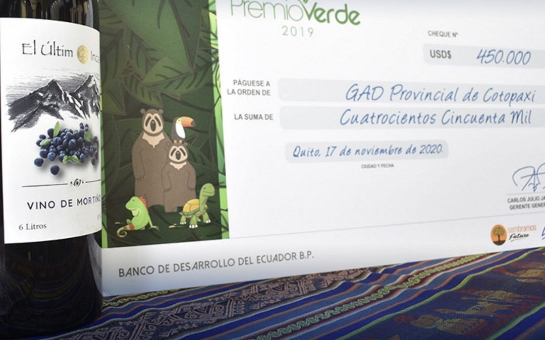 Community Evolution Partner wins Green Prize from the the Development Bank of Ecuador