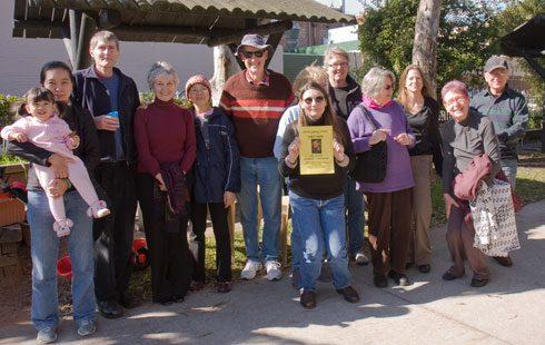 Newtown Community Gardeners and the winner of the award