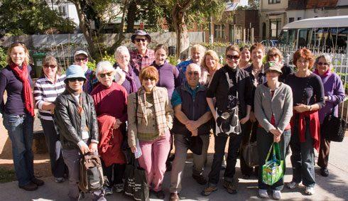 City of Sydney community garden tour group at Newtown Community Garden.