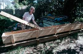 Increased recycling of materials for garden construction would be part of eplarging the urban prduction of food in a period of prolonged shortage.