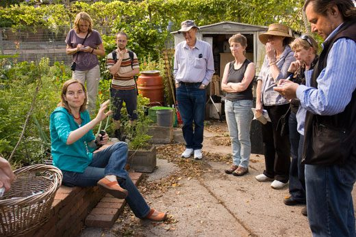 City of Sydney Community Gardnens and Volunteer coordinator, Annie Walker, has a few words at Angel Street permaculture Garden.
