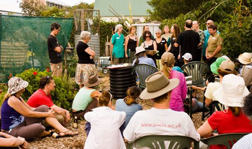 Ecopella provided a harmonious note for the Randwick garden's Christmas gathering.