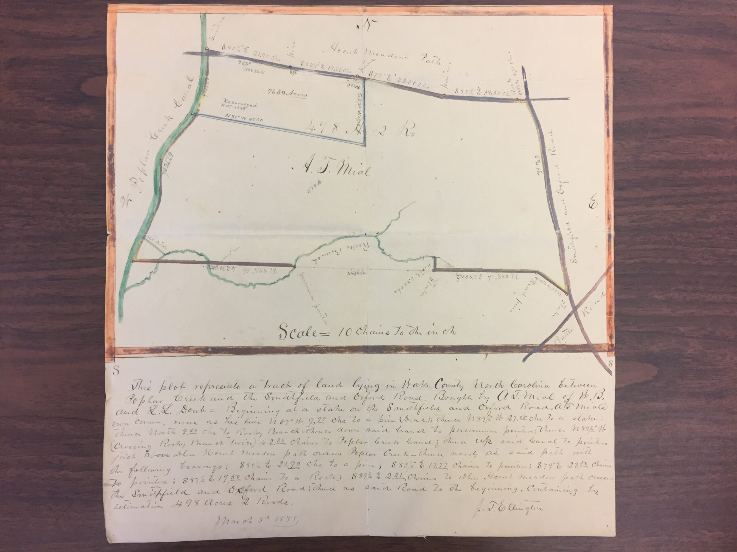 Land plat for portion of Mail farmlands_1878