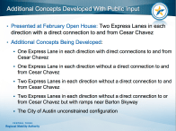 Additional MoPac South concepts