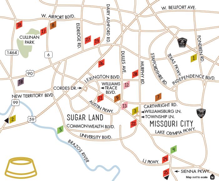 Restaurants Sugar Land Missouri City