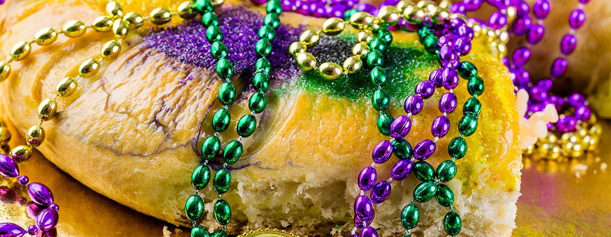 King Cake Mardi Gras