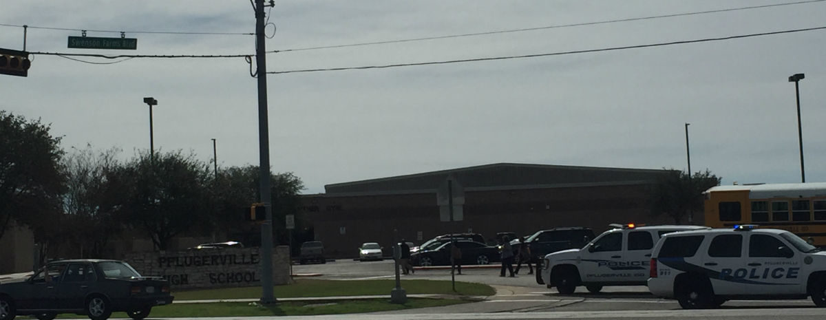 A fire was reported at Pflugerville High School this morning.