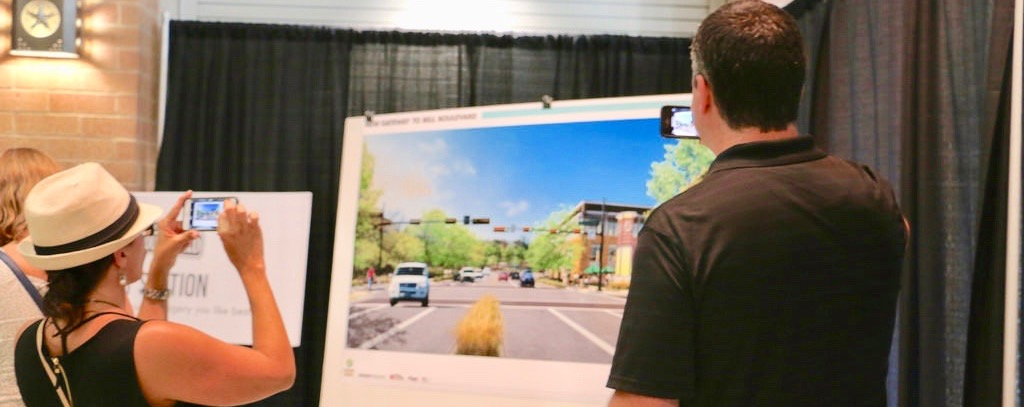 Cedar Park citizens take a look at conceptual plans for the Bell Boulevard Redevelopment Project during a public workshop in 2015.