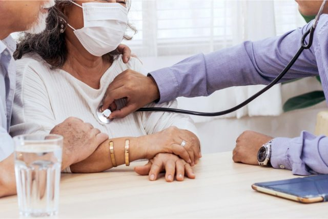 COVID-19 testing in healthcare office for Patients