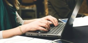 laptop hands