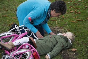 first aid child bike
